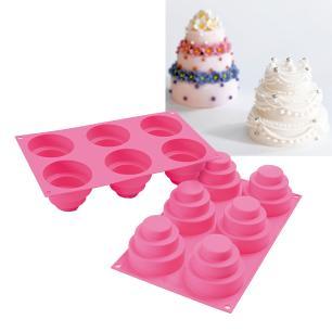 Forma de silicone Wonder Cake com 6 cavidades - Silikomart