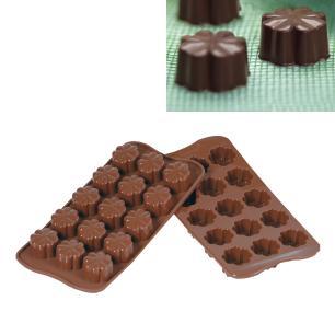 Forma de silicone para chocolate Flor Silikomart 24cm