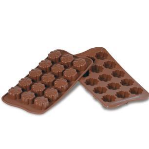 Molde de silicone para chocolate Fleury com 15 cavidades - Silikomart