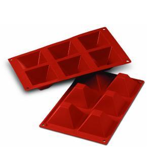 Forma de silicone Pirâmide com 6 cavidades (540ml) - Silikomart