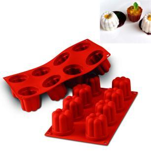 Forma de silicone Bavarese com 8 cavidades - Silikomart