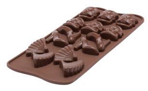 Molde de silicone para chocolate Fashion com 12 cavidades -  Silikomart