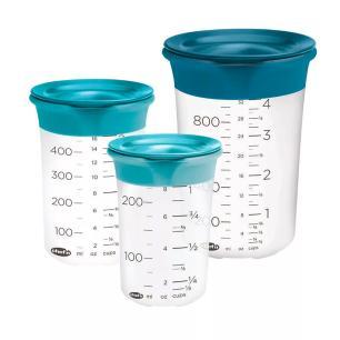 Conjunto com 3 copos medidores com tampa SleekStor™  - Chef'n