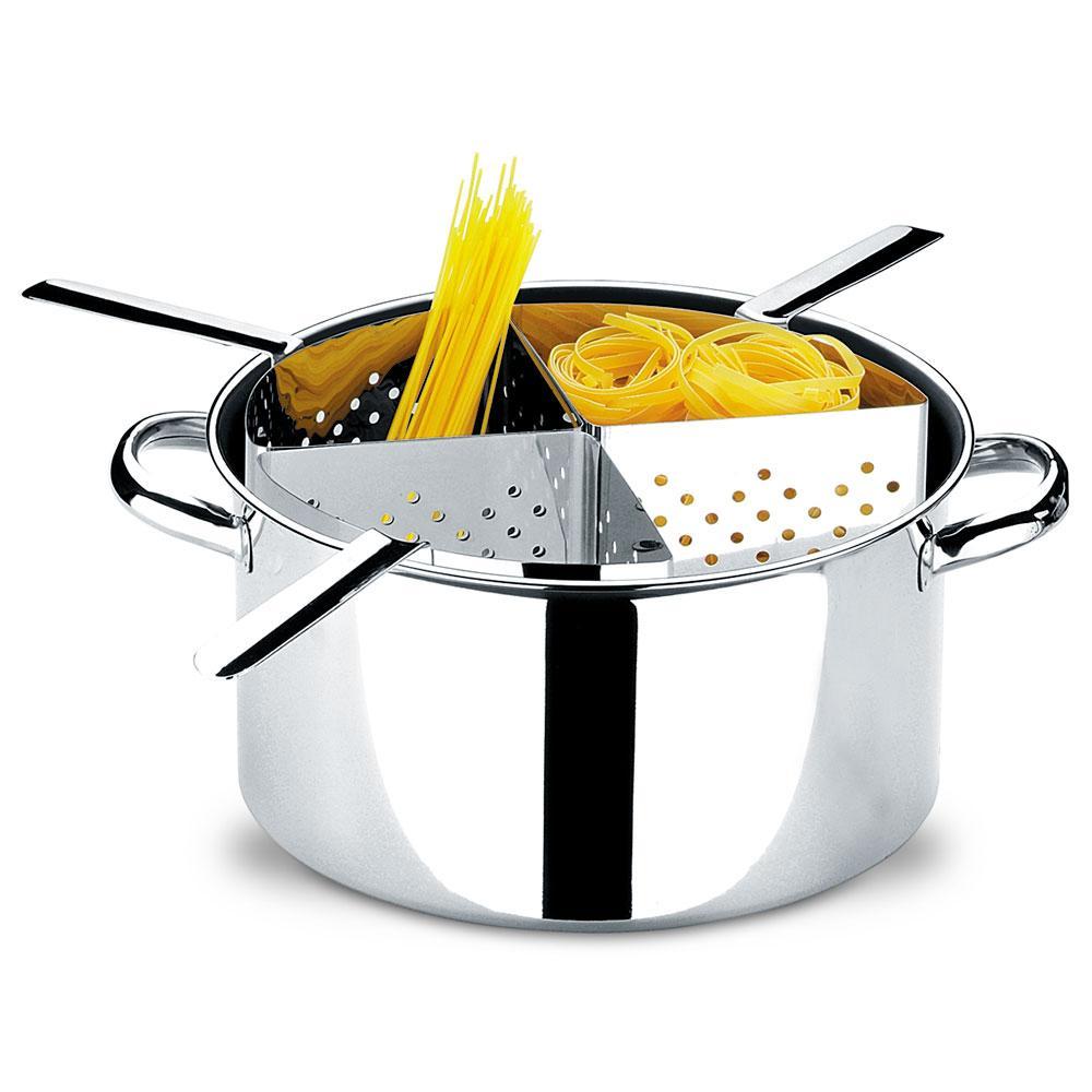 Espagueteira Inox Com 4 Divisões Savoy 10 Litros Brinox