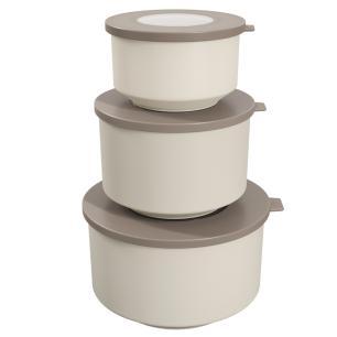 Conjunto 3 potes hoop Cinza Escuro e Cinza Claro cód. 99262/1342