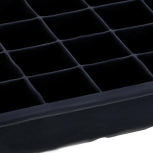 Forma de gelo 24 cubos 20x13x3 cm em Silicone Preto cod. 5359
