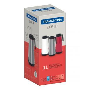 Bule TÉRmico Tramontina Exata Em AÇO Inox Vermelho Com Infusor 1 L 61644106