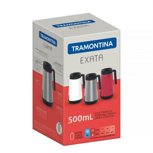 Bule TÉRmico Tramontina Exata Em AÇO Inox Vermelho Com Infusor 500 Ml 61644056