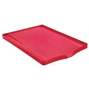 Bandeja Tramontina Plurale Para LouÇA Em Polipropileno Vermelho Com SuperfÍCie Coletora 61535760