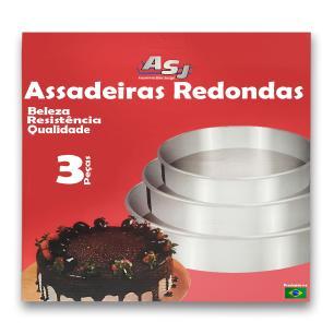 Conjunto assadeiras Redondas 3 peças ASJ