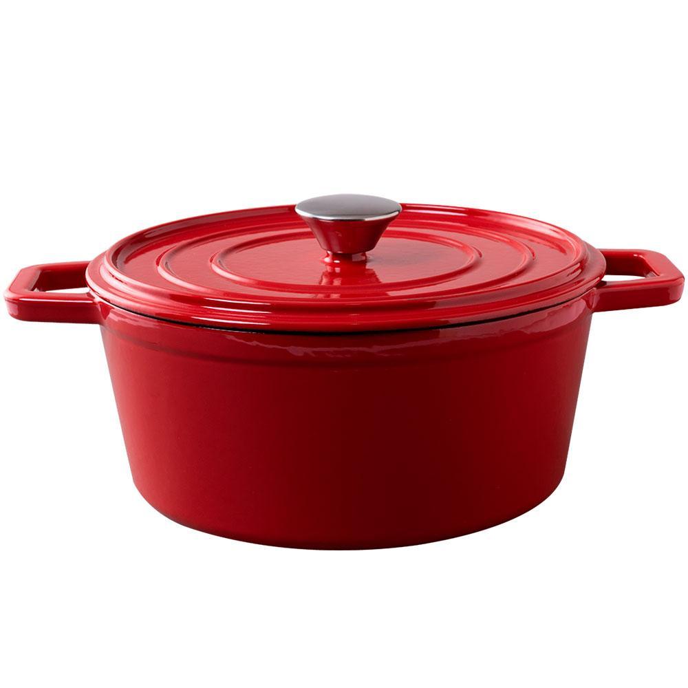 Caçarola Sauté 4,80 Litros Ferro Vermelho Brinox 57503/152