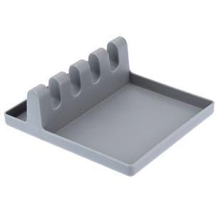 Descanço para Utensílios Plástico 14 x 12 cm Cinza 6269 Weck