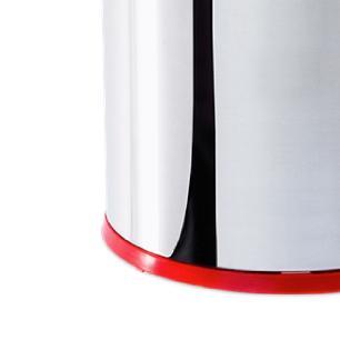 Lixeira Inox com Pedal 5 Litros Tampa Vermelha Brinox cód. 3048/212