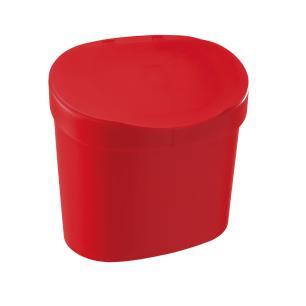 Kit de Pia Lixeira 2,5l e Dispenser Vermelho Coza