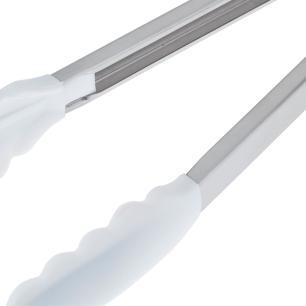 Pegador Inox com Ponta Em Silicone Branco 30cm cód. 5213
