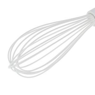 Batedor Manual Fio Silicone Cabo Branco 31cm Weck cód. 5013
