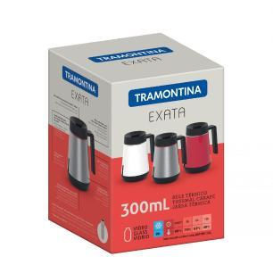 Bule TÉRmico Tramontina Exata Em AÇO Inox Vermelho Com Infusor 300 Ml 61644036