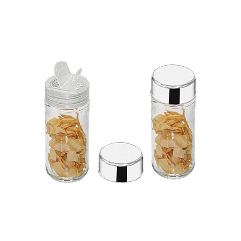 Porta Condimentos de vidro e tampa em Inox Makinox
