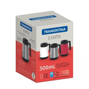 Bule TÉRmico Tramontina Exata Em AÇO Inox Branco Com Infusor 300 Ml 61644034