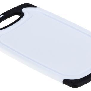 Tábua de corte 40x24 em polipropileno Branco e Preto cod. 5105