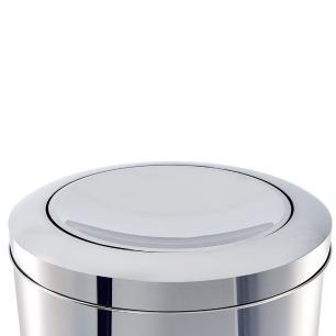 Lixeira Inox com Tampa Basculante 3,2 litros 15,5X17 cm Brinox cód. 3032/201