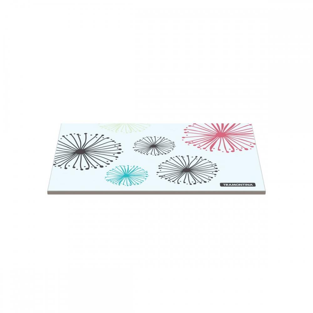 TÁBua Retangular Tramontina Em Vidro Branco Com Estampa Colorida 20x30 Cm 10399001