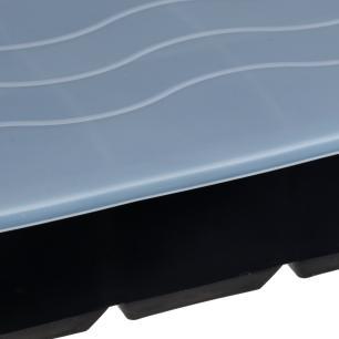 Forma De Gelo 06 Cubos 54mm Em Silicone com Tampa Preto