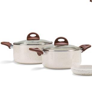 Jogo de Panelas 6 Peças Ceramic Life Smart Plus Vanilla cod. 4791/102 Brinox