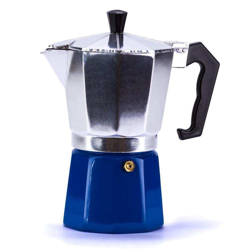 Cafeteira Italiana Aluminio 6 xícaras ou 300ml Azul WECK