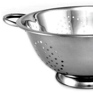 Escorredor de massa em aço inox - 24cm Gourmet Mix
