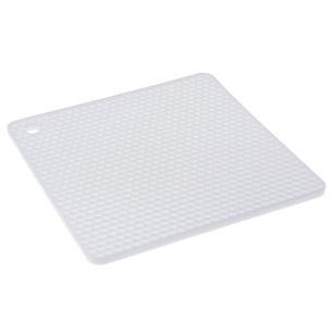 Descanso de Panela Quadrado De Silicone Branco 18,5x18,5 Weck