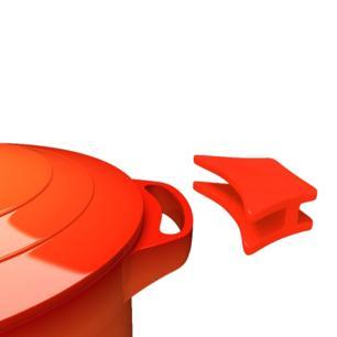 Caçarola baixa revestimento cerâmico 2,4 litros 24cm Le Cook LC1806