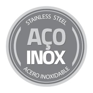 Pote Tramontina Freezinox Redondo Em AÇO Inox Com Tampa PlÁStica 25 Cm 4,2 L 61222250