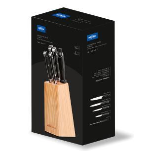 Conjunto de facas 6 pecas com cepo Infinity 2519/115