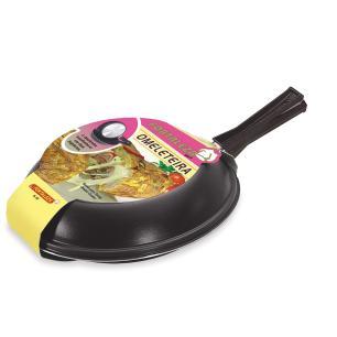 Omeleteira Antiaderente nr 22 Preta Fortaleza