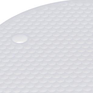 Descanso De Panela Redondo Em Silicone Branco 18 cm Weck