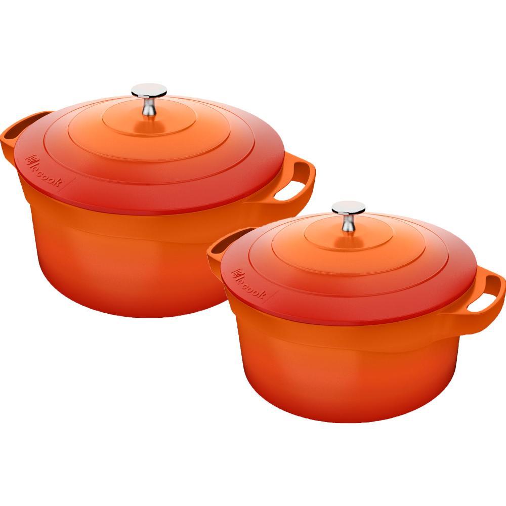 Kit Caçarola nr 20 e Caçarola nr 24 Laranja Le cook