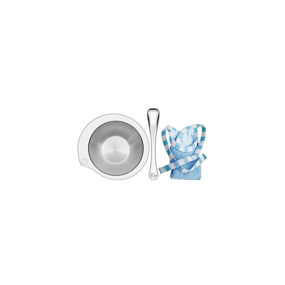Kit Infantil Tramontina Le Petit Para RefeiÇÃO Azul Em AÇO Inox 3 PeÇAs 64250650