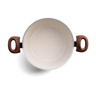 Conjunto Panelas Indução Revestimento Cerâmico 5 peças Life Optima Vanilla Brinox