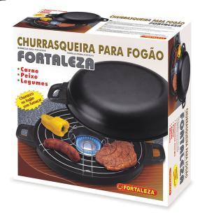 Churrasqueira para fogão em Alumínio Preto nr 30 Fortaleza