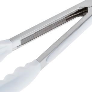 Pegador Inox com Ponta Em Silicone Branco 23cm Weck cod 5113