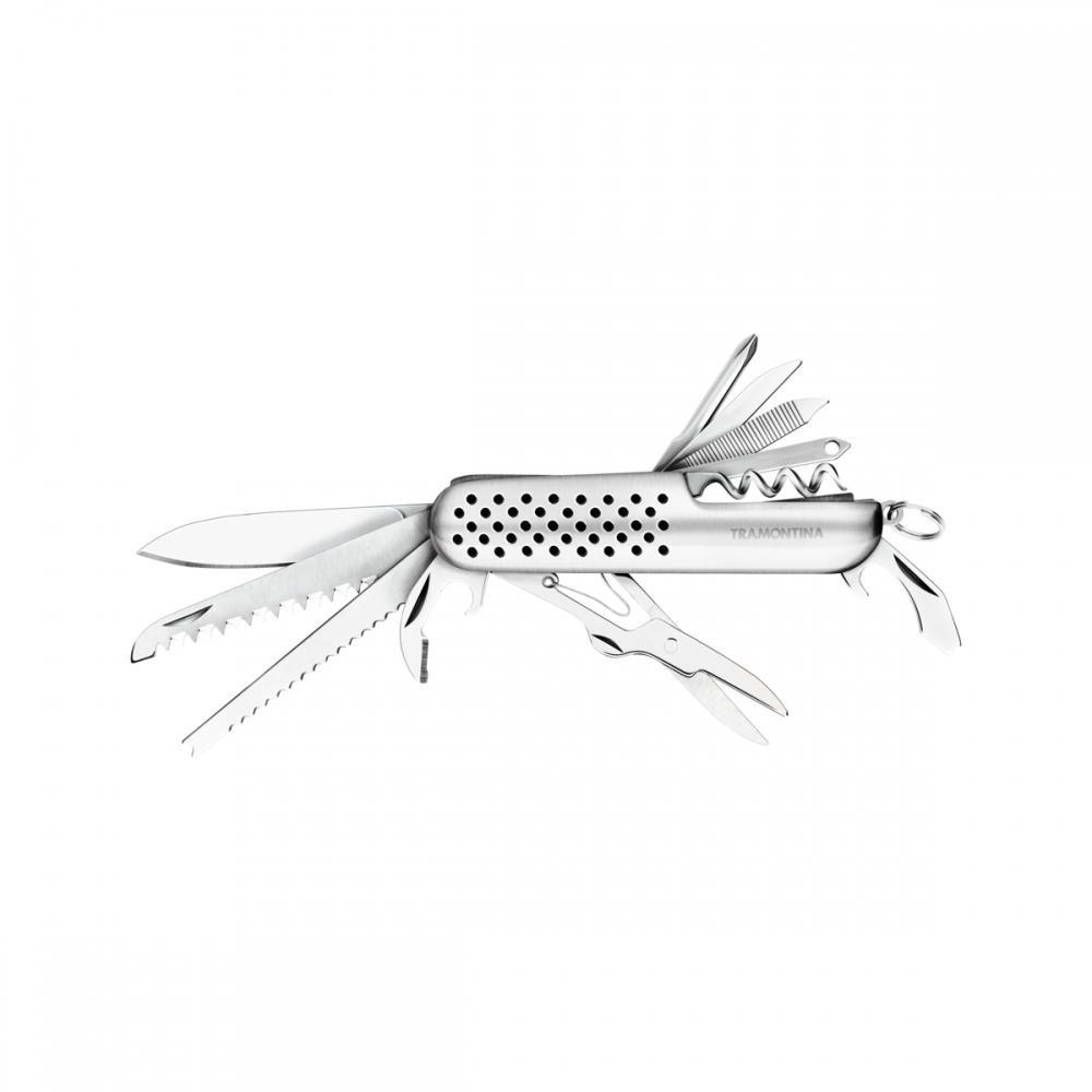 Canivete Tramontina 2 1/3 Em AÇO Inox Com 14 FunÇÕEs 26367102