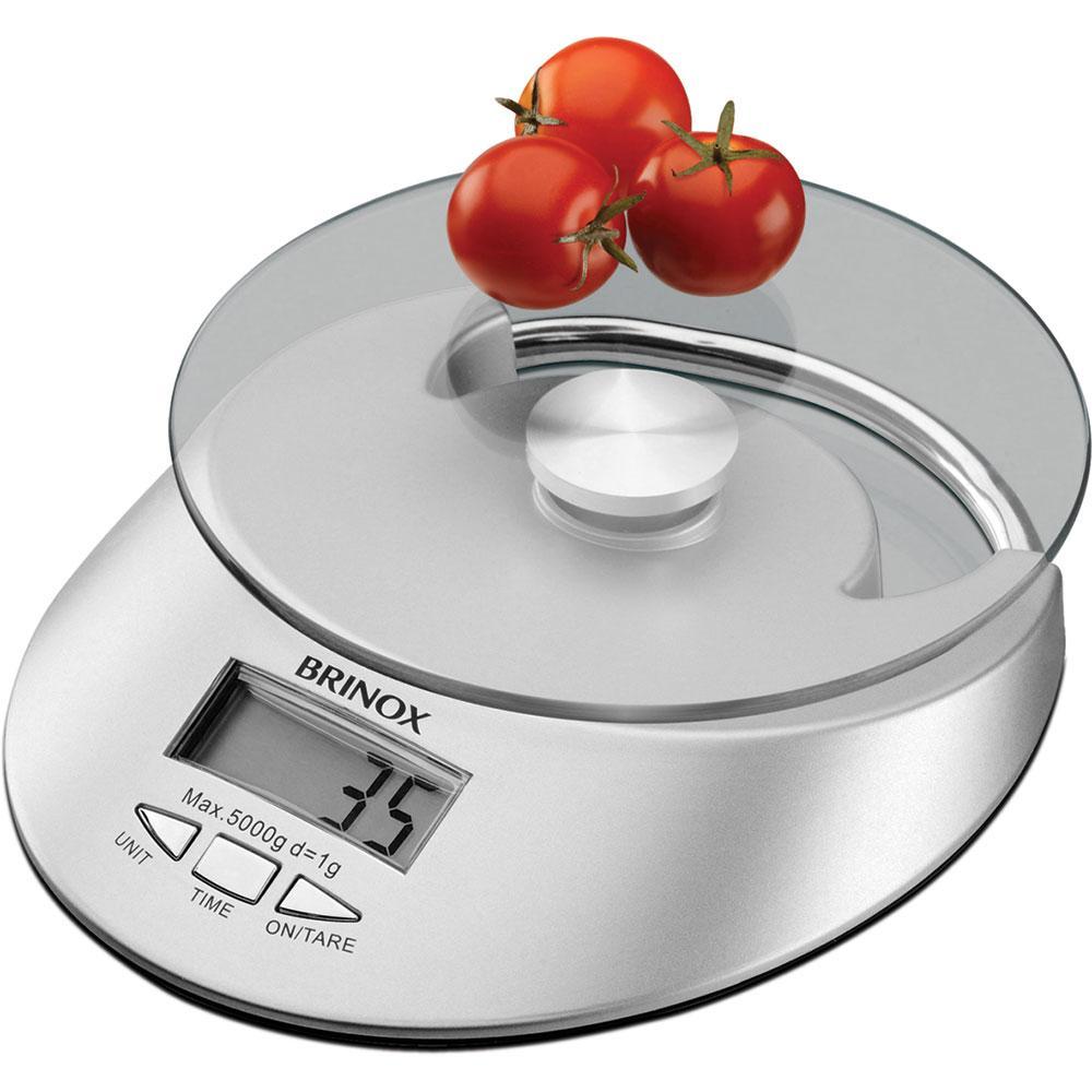 Balanca Digital com Relogio para Cozinha 5Kg Brinox cód. 2923/101