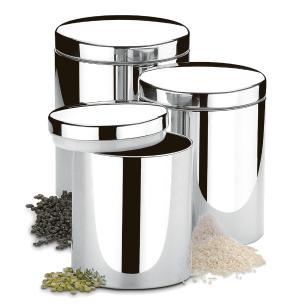Conjunto Potes para Mantimentos com Tampa 3 Peças Brinox cód. 2100/102