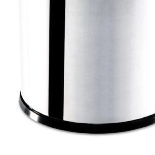 Lixeira Inox com Tampa Basculante 5,4 litros 18,5X20 cm Brinox cód. 3032/202