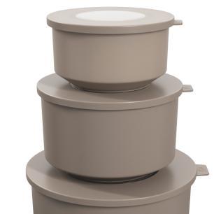 Conjunto 3 potes Hoop Cinza Escuro cód. 99262/1126