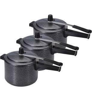 Kit Panela de pressão com 3 peças de 7 litros Craquelada