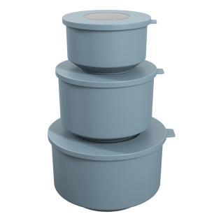 Conjunto 3 potes Hoop Azul cód. 99262/1477