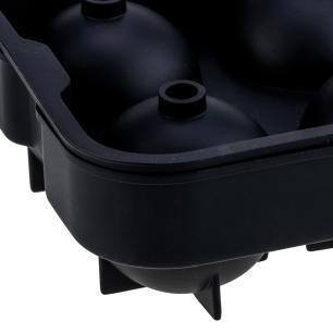 Forma De Gelo 04 Esferas 45mm Em silicone com Tampa Preto