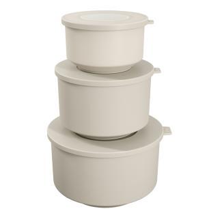 Conjunto 3 potes Hoop Cinza Claro cód. 99262/1468